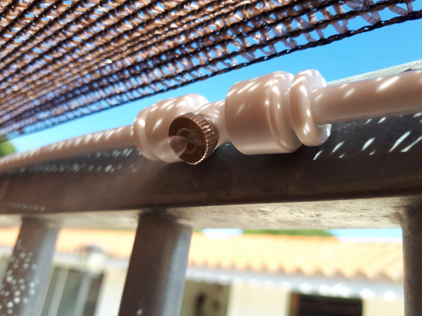 Habitación con sistema de nebulización para verano